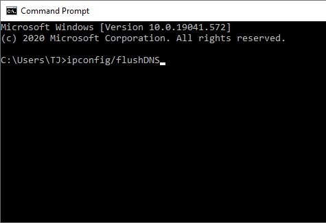 screen command prompt